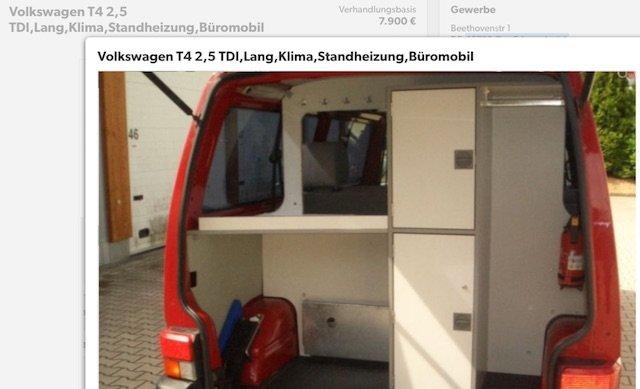 VW Bus Blitzerbus Auktion