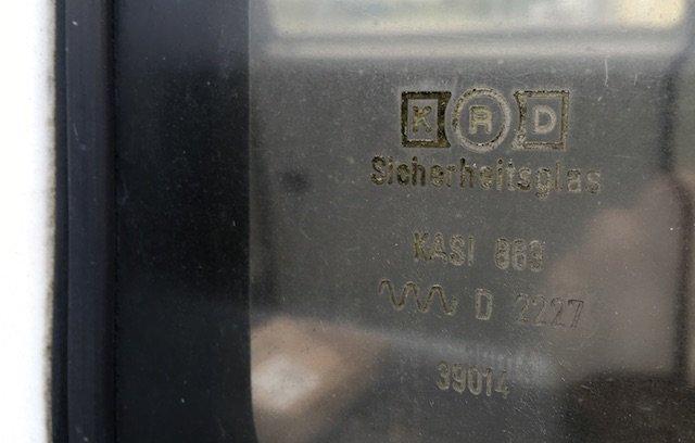 VW Bus Plastik Scheiben Polizei