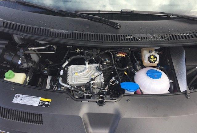 VW Bus T6 Motorraum Diesel