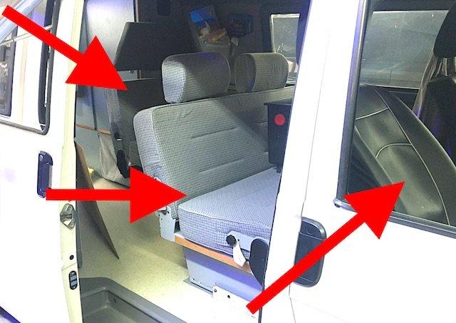 T4 Malibu Camper 6 Sitze 3 Sitzreihen