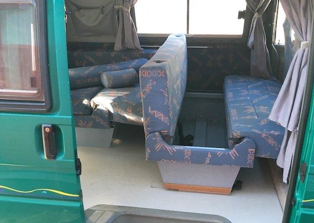 T4 Malibu langer Radstand viel Stauraum in den Sitzbaenken
