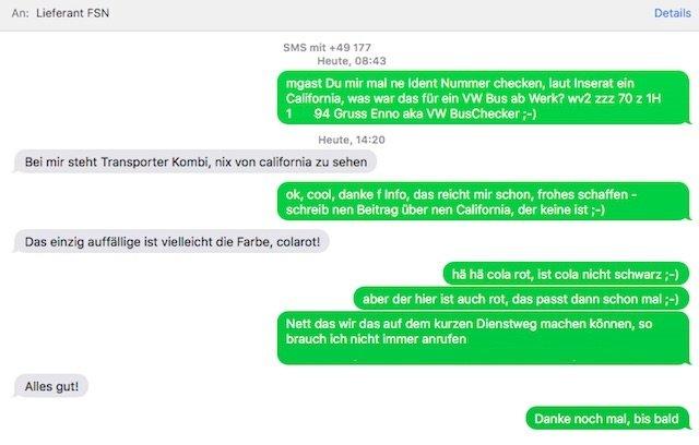 Anfrage Ident Nummer Volkswagen Partner
