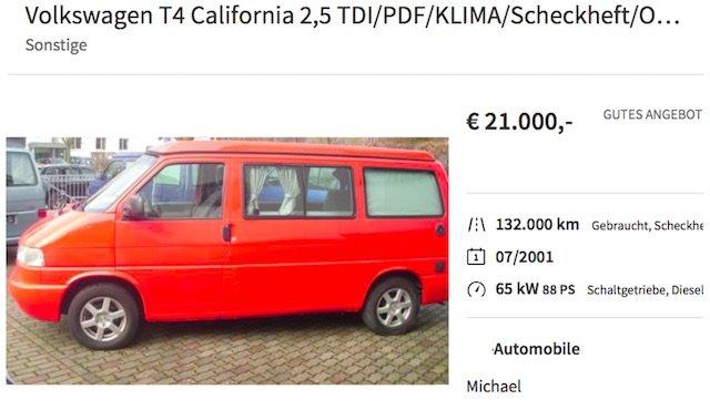 hochwertige VW Busse T4 Park Norderstedt