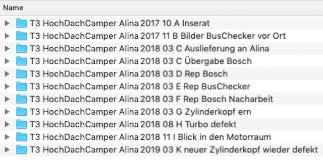 Reparaturen Dokumentation BusChecker
