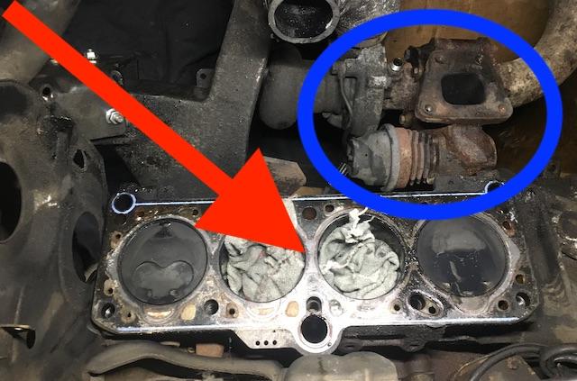 T3 Motor ohne Zylinderkopf mit Turbolader
