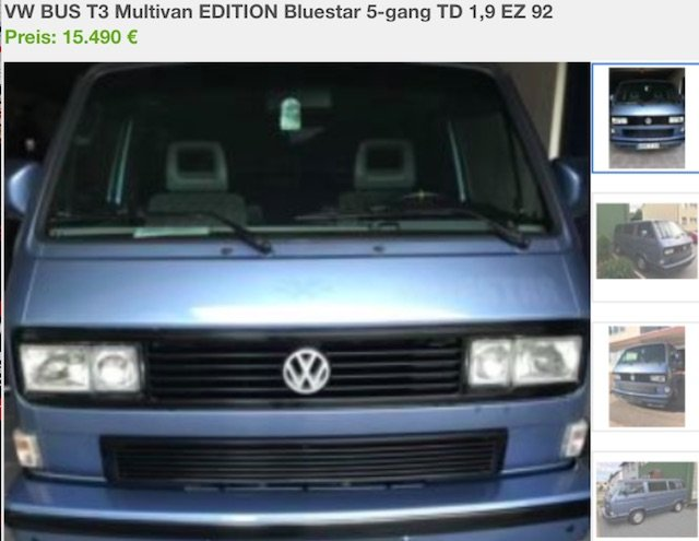 T3 blue Star Kaufberatung VW Bus Checker