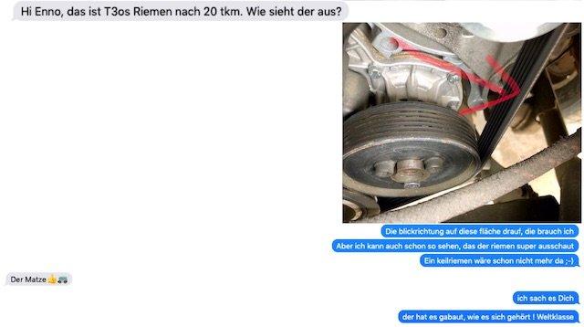 1.9 Diesel im VW Bus T3 mit Keilrippenriemen Empfehlung BusChecker