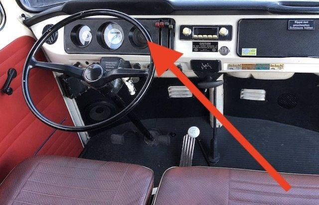 Anzeige Motoröltemperatur im Kombiinstrument VDO