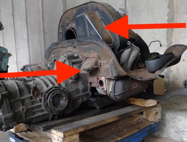 Boxermotor VW Bus T2 1.6 per Luft gekühlt Ölkühler Hundehütte Ausströmer