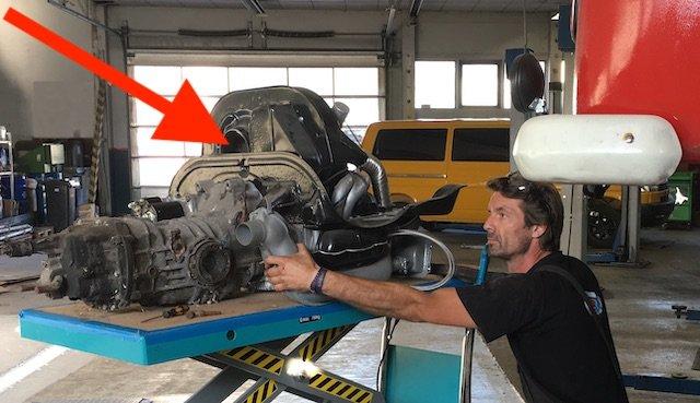 Luftansaugung Geblaese T2 Motor VW Bus 1.6 ltr