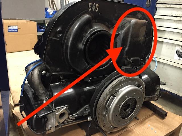 Ölkühler VW Bus T2 1.6 Boxer Motor in Hundehütte