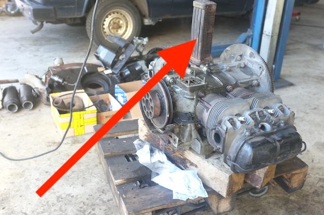 Ölkühler VW Bus T2 Motor erste Serie noch nicht in separatem Gehäuse
