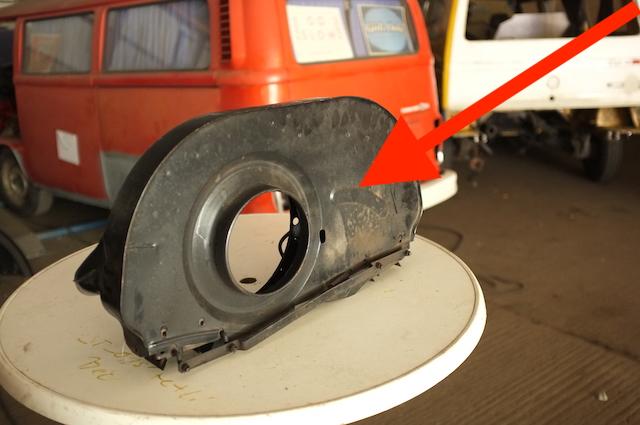 Ölkühler ohne Extra Blech Haus frühe VW Bus Motoren