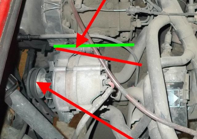 Schwachstelle VW Bus T3 Diesel Motor Lichtmaschine