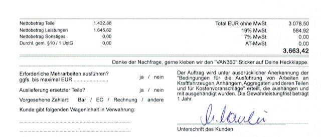 VW Bus T3 Kostenvoranschlag stark ueberzoegen ACHTUNG BusChecker