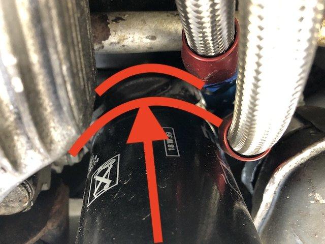 Zusatzflansch zwischen Ölfilter und Motor für Zusatzölkühler VW Bus T2 Flachmotor