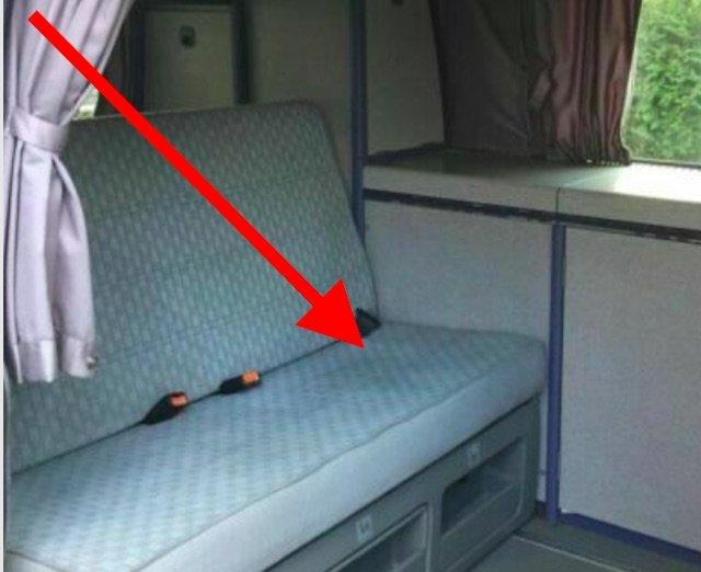 Schattierungen in den Sitzflächen VW Bus Camper