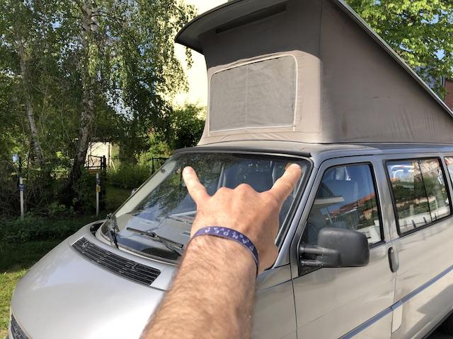 Vorsicht Rost am VW Bus T4 Camper mit KlappDach