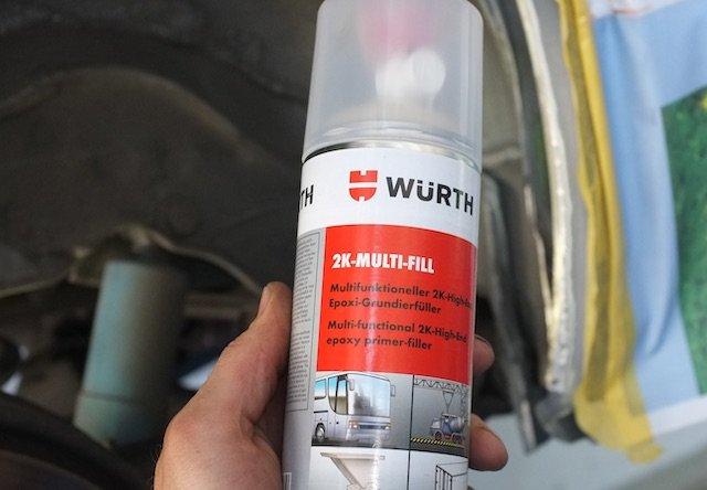 Zwei Komponenten Epoxidharz Grundierung VW Bus Restauration