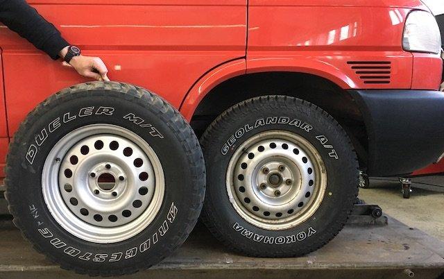 T4 Syncro höher legen welche Reifen