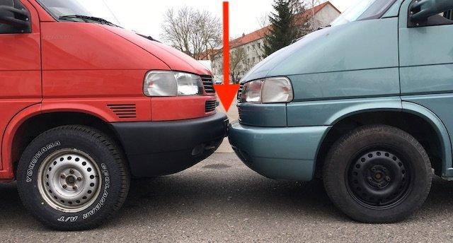 VW Bus T4 höher legen Reifen und Fahrwerk