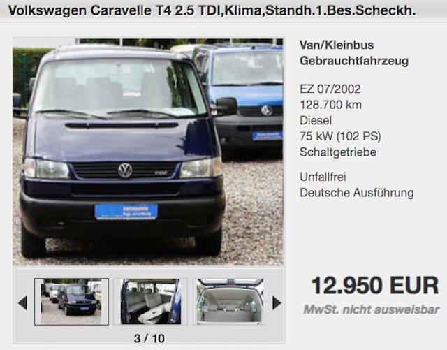 T4 Scheckheft gepflegt Lückenlos Angebot VW Bus Service Berlin