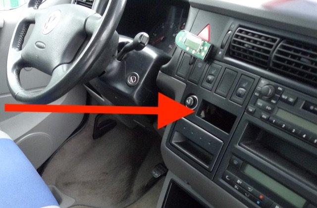 VW Bus T4 Standheizung TÜV abgelaufen Bedienteil demontiert