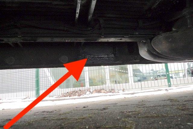 VW Bus T4 Standheizung inseriert Schacht zugeschweisst