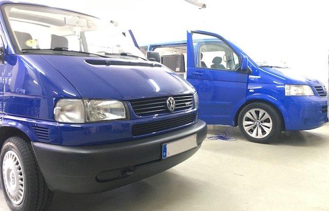 Vergleich VW Bus T4 und T5 Erfahrungen BusChecker