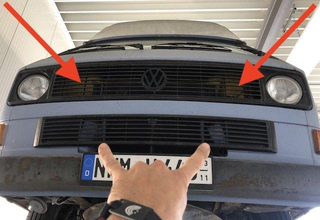 defekte Luftleitpappen gefährlich für Motorkühlung VW Bus T3