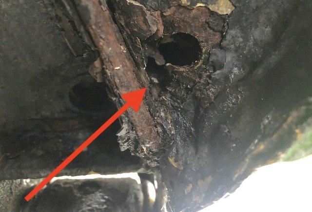 fehlender Karosseriestopfen Radhaus VW Bus T3 Ursache Rost