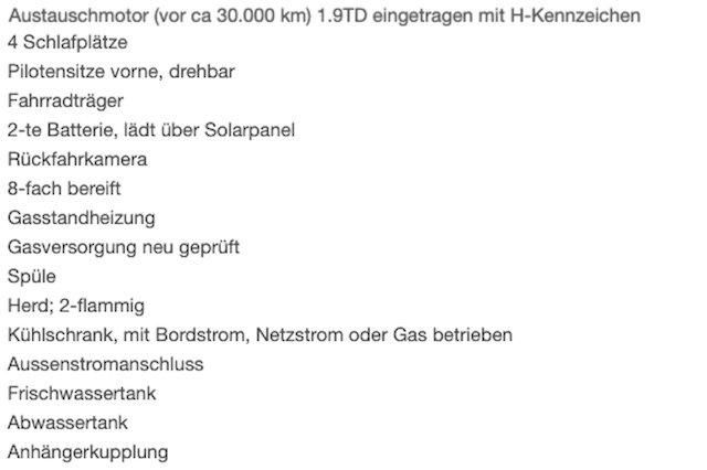 1.9 Diesel Motor im VW Bus T3 H Kennzeichen Erfahrungen
