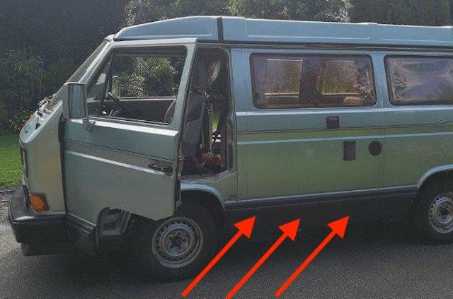 Karosserie Verkleidungen VW Bus T3 verdecken Rost