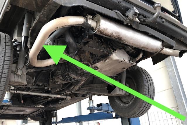 Schwingungsdaempfer Abgasrohr VW Bus T3 Diesel fehlt