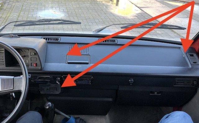 VW Bus T3 Armaturenbrett original gut erhalten