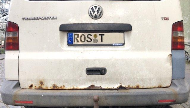 VW Bus T5 rostet