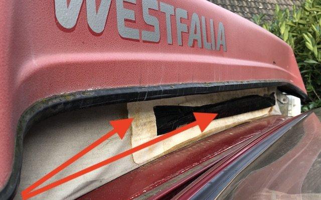 Zeltbahn VW Bus T3 FaltDach flicken