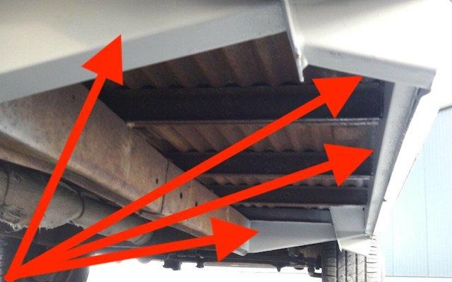 Unterboden VW Bus T1 original erhalten Merkmale
