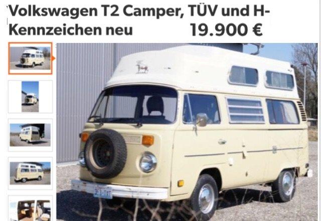 VW Bus T2 Camper kaufen oder VW Bus T1