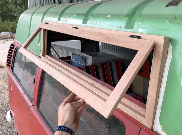 Dachfenster Holz VW Bus T2 HochDach