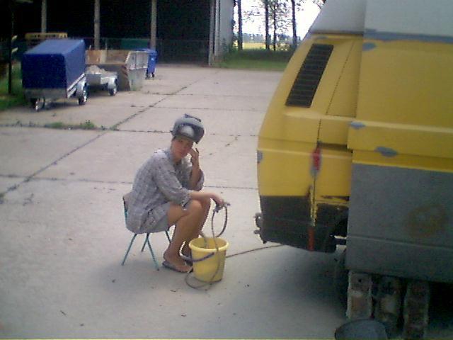 VW Bus strahlen per Sand DIY