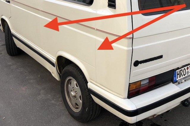 Karosserienaehte VW Bus T3 aussen nachbessern Erfahrungen