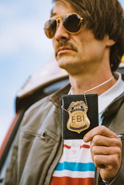 BusChecker aka Javier Vanja FBI Plakette Nahaufnahme ©DanPetermann