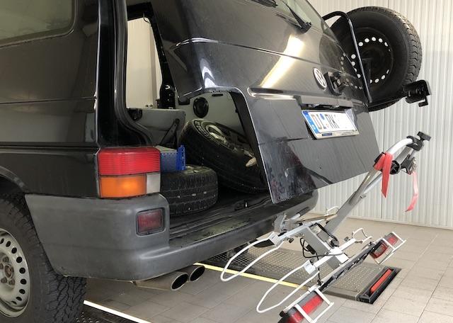 Reserveradtraeger VW Bus T4 Syncro nachruesten