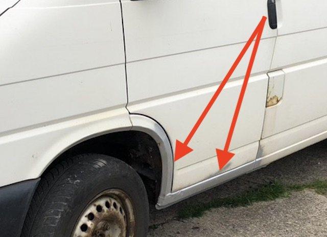 T4 Schwachstellen Rost Einstiege Fahrer Beifahrer Seite