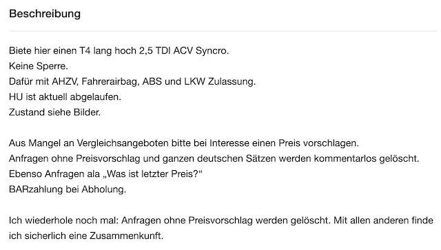 T4 TDI ACV Syncro Lang Hoch WOMO LKW VANLIFE Beschreibung