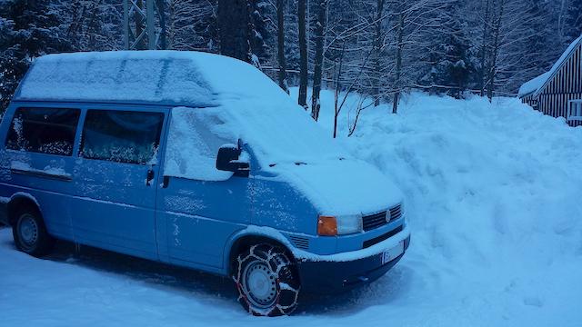VW Bus ohne Syncro Winterurlaub