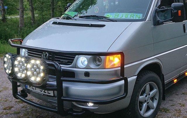 grosse Zusatzscheinwerfer VW Bus T4 Frontbuegel
