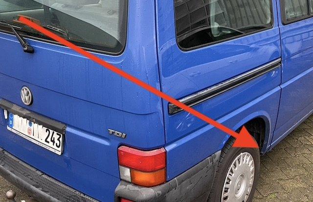 Radhaus hinten rechts durchrostet VW Bus T4