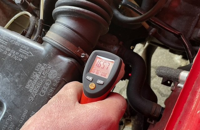 Abgastemperaturmessung Laserthermometer